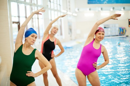 Senior Women Training at Swimming Pool