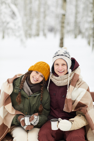 Youg Couple in Winter Park