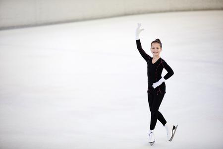Girl Posing on Skating Rink