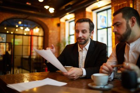 Business Meeting in Restaurant 写真素材