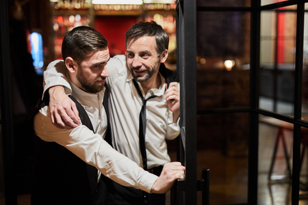 Drunk Man Leaving Pub