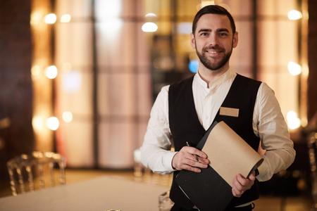 Profesional Waiter in Restaurant