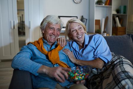 Senior Couple watching Comedy