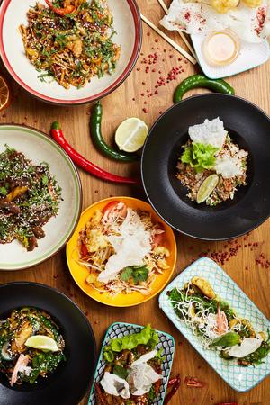 Oriental Cuisine Composition Stock Photo