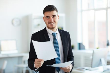 Banker in office