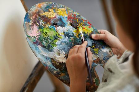 Little Artist holding palette