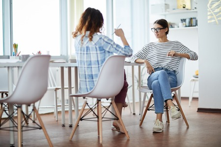Contemporary Women at Work Stockfoto