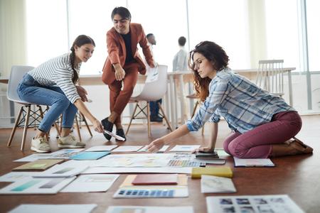 Projet de planification des gens d'affaires créatifs Banque d'images