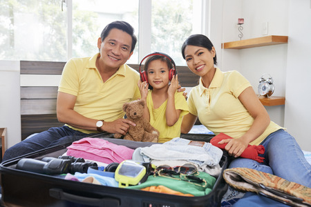 Family packed for vacation Banco de Imagens