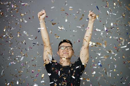Positive happy young man Reklamní fotografie