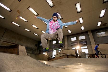 Skater Jumping in Air