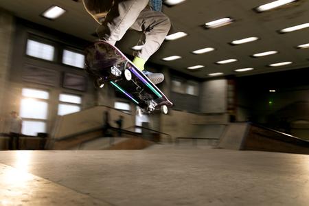 Skateboarder in Air