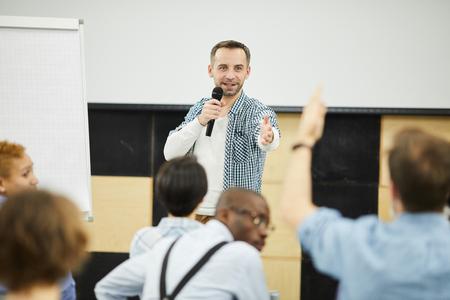 Business Coach beantwortet Fragen aus dem Publikum