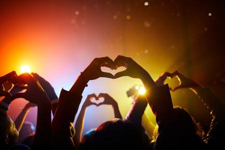 Fans expressing love in relation to performer Reklamní fotografie