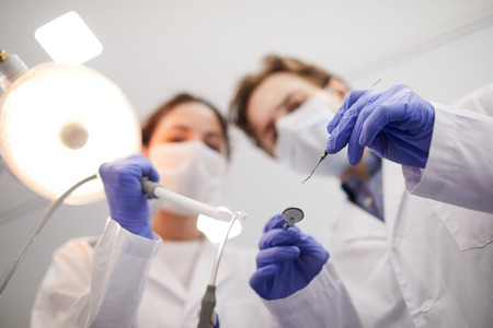 Defocused  Dentists Standard-Bild