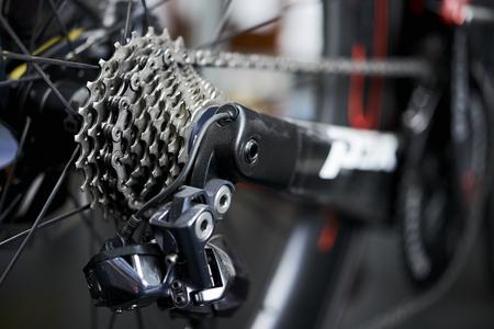 Rear mountain bike cassette on the wheel with chain Reklamní fotografie