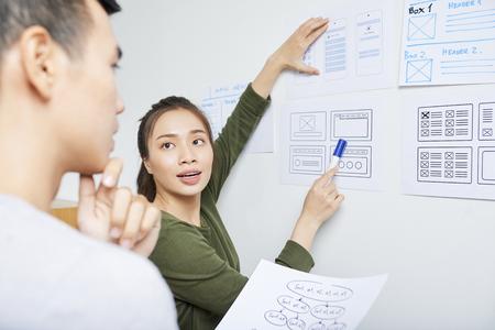 UX designer working with UI specialist