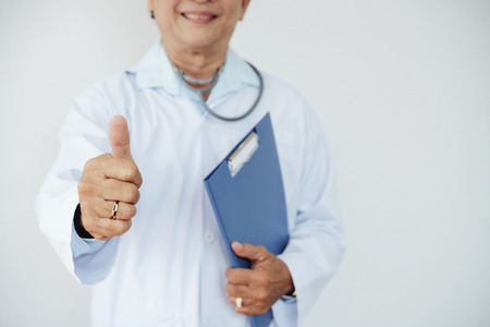 Doctor showing thumbs-up