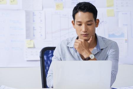 Businessman working on laptop Stok Fotoğraf