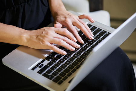 Woman writing email