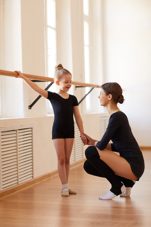 Petite ballerine à la pratique
