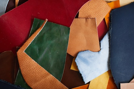 Colored Leather Background