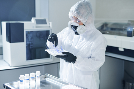 Taking samples of biohazards
