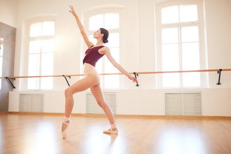Elegant woman dancing in pointe shoes Stock fotó
