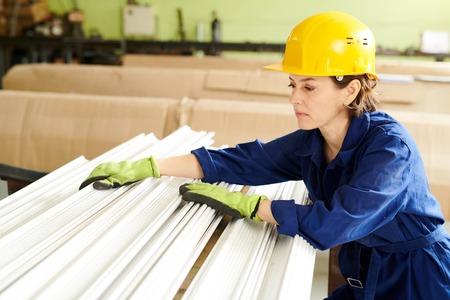 Female Worker Sorting Material