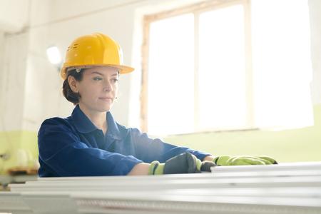 Female Worker in Sunlight