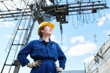 Female Builder Stock Photo