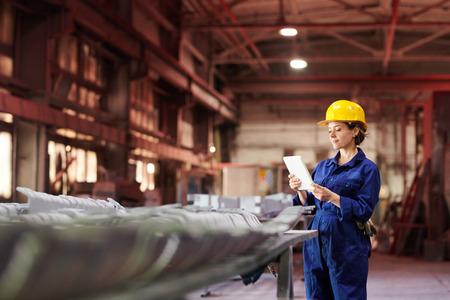 Female Supervisor at Factory