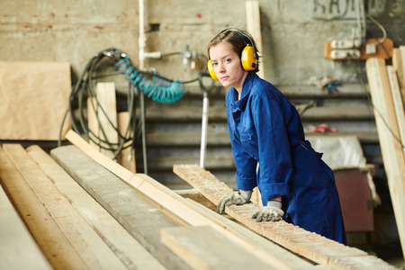 Woman Working at Manufactory