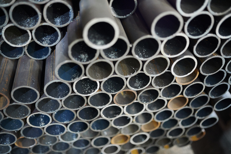 Metal Pipes in Warehouse