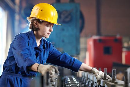 Female Worker Side View