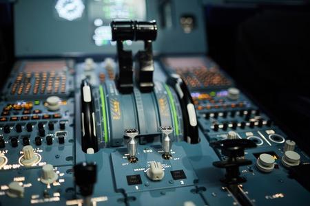 Instrument panel of aircraft Stockfoto