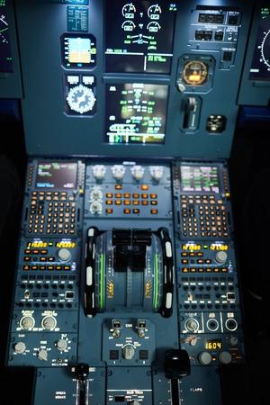 Jet airplane cockpit