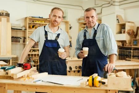 Carpenters Posing at Coffee Break