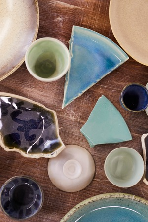 Pastel colors of ceramics