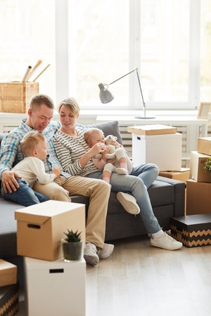 Family into new home