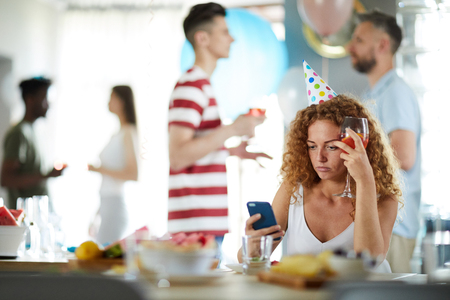 Frustrated Woman at Party
