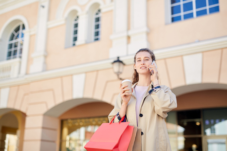Attractive woman talking on phone Stock Photo