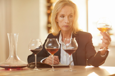 Mature Female Sommelier 写真素材