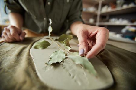 Plant Print in Ceramics