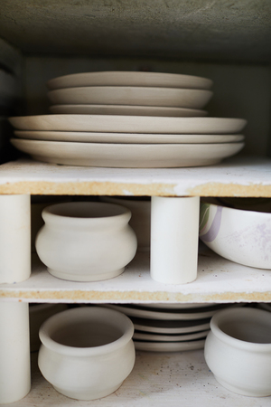 Unfinished Pottery Items 写真素材