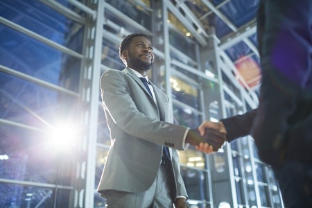 Black entrepreneur being success in business Stock Photo