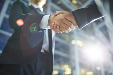 Handshake of business partners Stock Photo