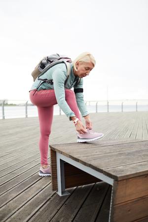 Sportswoman outside 스톡 콘텐츠