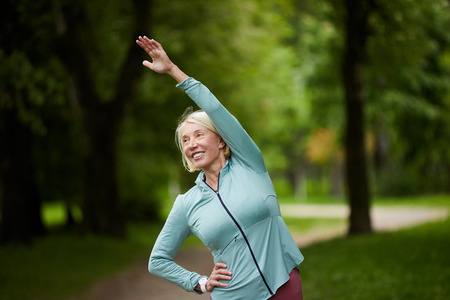 Exercising in park