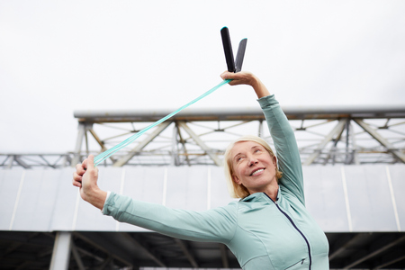 Exercise with skipping-rope